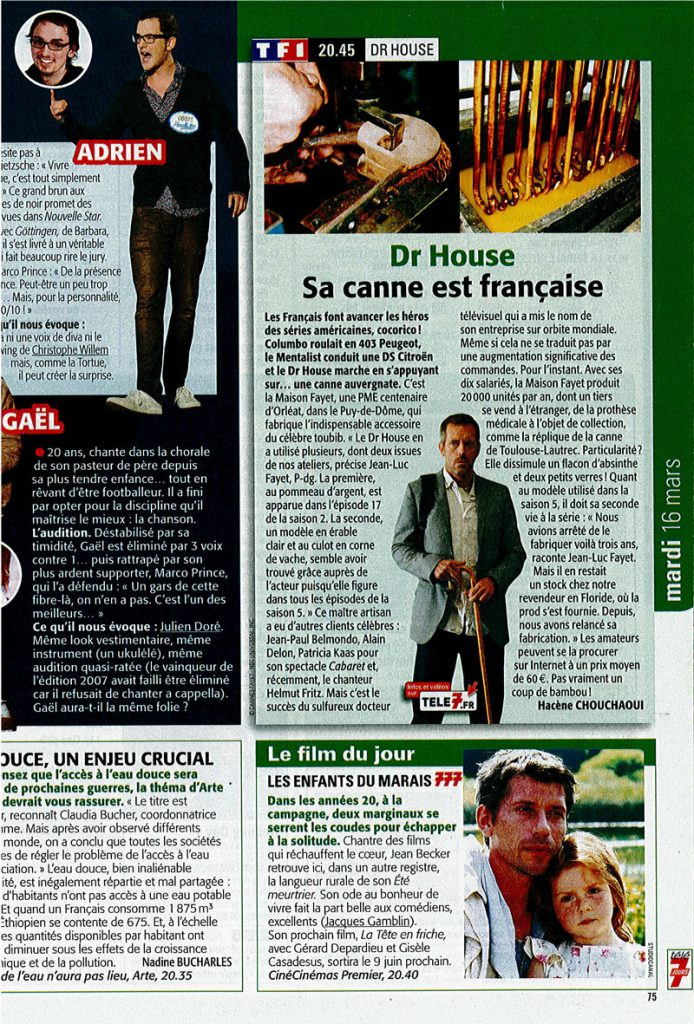 Article tele 7 jours presse 2010