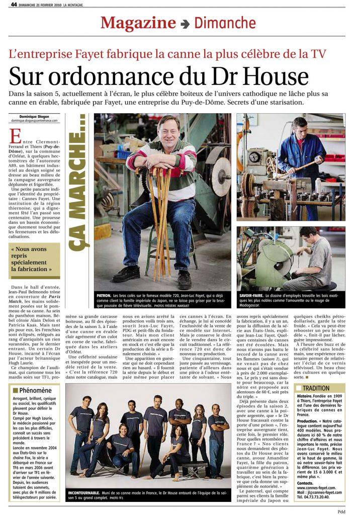 Article La Montagne dr House Cannes Fayet