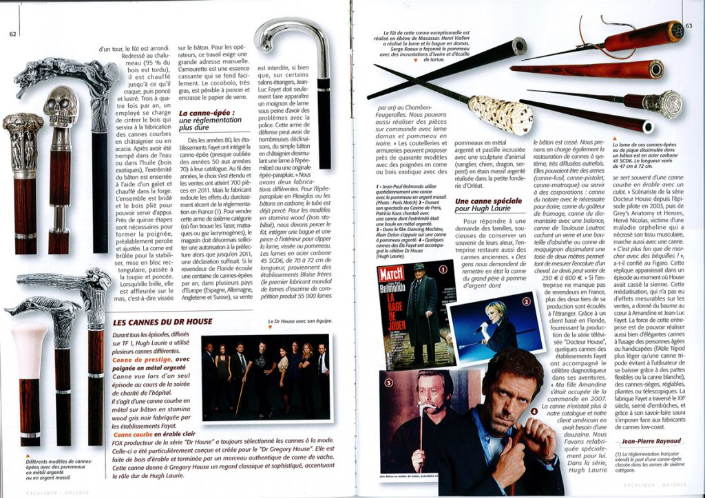 Article excalibur Cannes Fayet